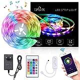 Tomshine LED Strip Alexa, 5M RGB WiFi Smart LED Streifen, IP65,APP Steuerbar Musik LED Lichtband mit Fernbedienung,Alexa,Google Home [Energieklasse A+]