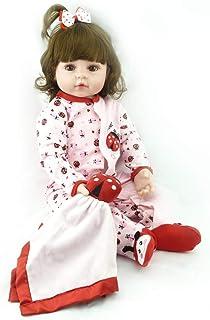 "Reborn Baby Doll, 100% Handmade Full Soft Silicone 22"" /55cm Lifelike Newborn Doll for Children Xmas Gift-RB161"