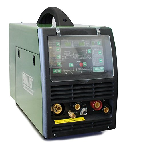 NEW 2019 Everlast PowerMTS 221Sti MODEL AC/DC TIG with PULSE/MIG/Stick 200amp 110v/220v Multi Process Welder
