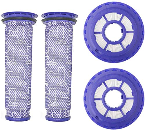 Replacement Filters for Dyson DC65 DC66 DC41 UP13 UP20 Animal, Multi Floor and Ball Vacuums, Compare to Part 920769-01 and 920640-01, 2 HEPA Filter and 2 Pre Filter