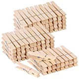 100pcs Large Wooden Clothespins Heavy Duty Clothes Pins for Laundry Hanging Clothes-Wood Clip for Crafts Pictures,3 inch