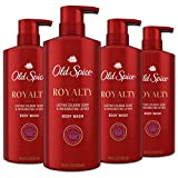 Old Spice Body Wash for Men, Aluminum Free, Royalty Cologne Scent, 16.9 Fl Ounce, Pack of 4