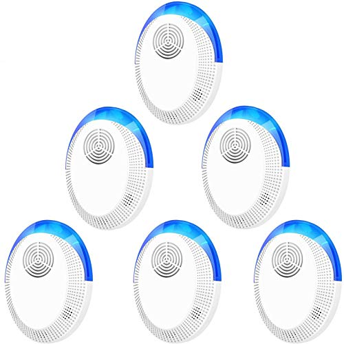 okutani Ultrasonic Pest Repeller, 6 Packs, Electronic Indoor Pest Repellent Plug in for Insects, Pest Control for Living Room, Garage, Office, Hotel