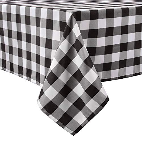 LEEVAN Buffalo Plaid Tablecloth 60 x 120 Inch Checkered Gingham Table Cloth Rectangle Spillproof,Washable Polyester Table Cover for Kitchen Dinner Farmhouse Tablecloths