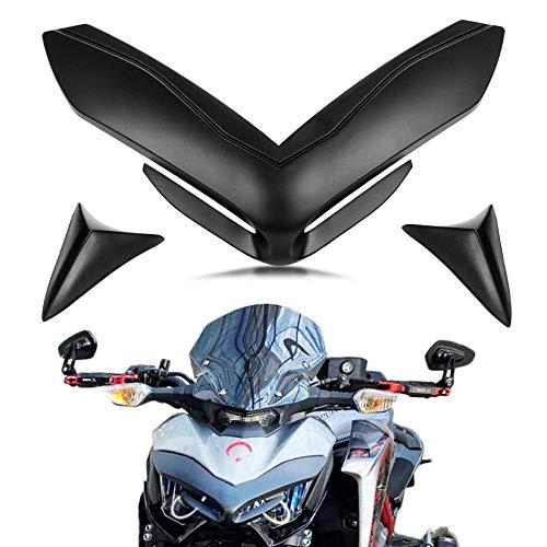 PSLER® Copri Naso Carenatura Anteriore Moto per Kawasaki Z900 2017-2019 (Nero)
