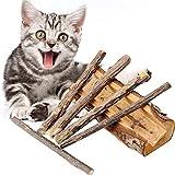 Jouet Matatabi Bâtons,5 Chat Catnip à mâchonner Jouet bâtons de Matatabi à mâchonner de Naturel Matériel Soins dentaires Chew Catnip Sticks pour une dentition féline saine et contre la mauvaise