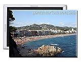 GoPukka Lloret De Mar Costa Brava España Beach View – Imán para nevera (estándar: 70 x 45 mm)