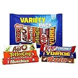 British Chocolate Variety Mix. Rolos, Aero, Munchies, Toffee Crisp, Kit Kat, Yorkie