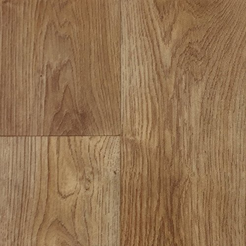 PVC-Boden Holzdielenoptik Braun Landhaus Vliesrücken| Muster | Vinylboden versch. Längen | Fußbodenheizung geeignet | Platten strapazierfähig & pflegeleicht | robuster, rutschhemmender Fußboden-Belag