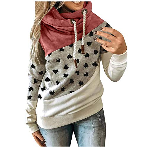 VEMOW Kapuzenpullover Damen Langarm Rollkragen Sweatshirt Pullover Herbst Winter...