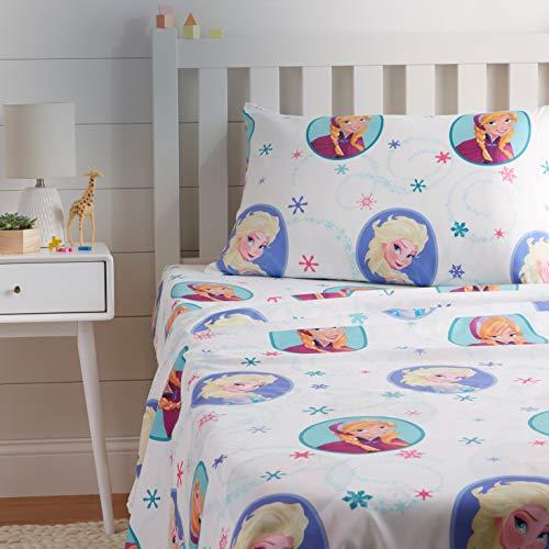 AmazonBasics by Disney Frozen Swirl Bed Sheet Set, Twin