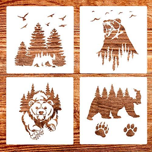 SUPVOX 12pcs Kids Drawing Stencil Modelli di Pittura Trasporto Animal Drawing Stencil Templates Kids Drawing Painting Supplies
