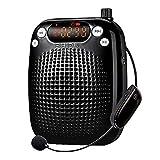 Amplificador de voz Inalámbrico 10W, amplificador de voz personal SHIDU, altavoz PA recargable con UHF Auriculares inalámbricos con micrófono para maestros, canto, guías turísticos, aula, aire libre