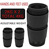 Ankle Weight 1 Pair Wrist Weight, 0.5-6 kg Adjustable Steel Plate Weight Adjustable Wrist Strap for Fitness, Exercise, Walking, Jogging, Gym, Training,Ankle,2PC-2x3KG