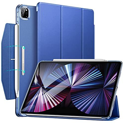 ESR Funda tríptica Compatible con iPad Pro 11 2021, Funda Ligera con Soporte, Modo automático de Reposo/Actividad, Carga inalámbrica para Pencil 2, Serie Ascend, Azul