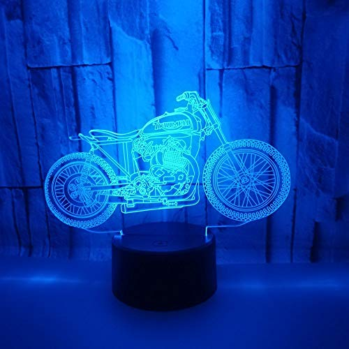 Only 1 Piece Motorcycle 7 Gradual Change3d Lamp Touch Remote Control 3D Night Light Led 3D Visual Gift Small Light Fixtures
