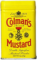 "Colman's Dry Mustard, 2 oz. <a href=""https://www.amazon.com/gp/product/B0014E6H2G/ref=as_li_qf_asin_il_tl?ie=UTF8&amp;tag=ris15-20&amp;creative=9325&amp;linkCode=as2&amp;creativeASIN=B0014E6H2G&amp;linkId=44231b3493987a791c3efa790d327e3d"" target=""_blank"" rel=""nofollow noopener noreferrer""><span style=""text-decoration: underline; color: #0000ff;""><strong>Buy it on Amazon.</strong></span></a>"