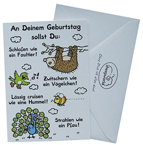 Sheepworld Glückwunschkarte Grußkarte Geburtstag