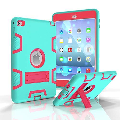 DELLA Suitable for iPadmini5 all-inclusive contrast protection sleeve mini4 flat silicone children's anti-fall armor shell-mini1/2/3 armored robot