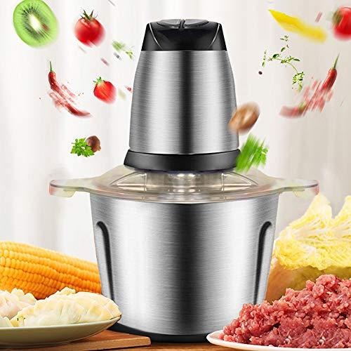 InLoveArts Tritacarne, Tritatutto da 3 litri, Robot da cucina, 4 lame affilate ad alta potenza, Due ingranaggi progettati per carne/verdura/frutta/noci