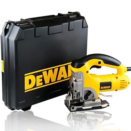 Dewalt DW331K-QS - Sierra de calar 701w electrónica con puño cerrado + maletín