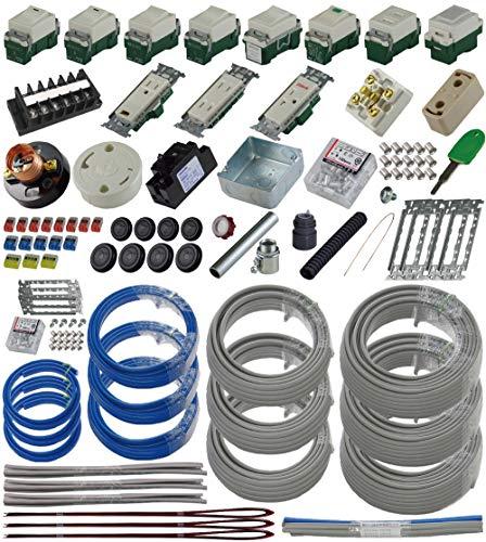 準備万端シリーズ (3回練習分) 第二種電気工事士技能試験練習用材料「全13問分の器具・電線セット」