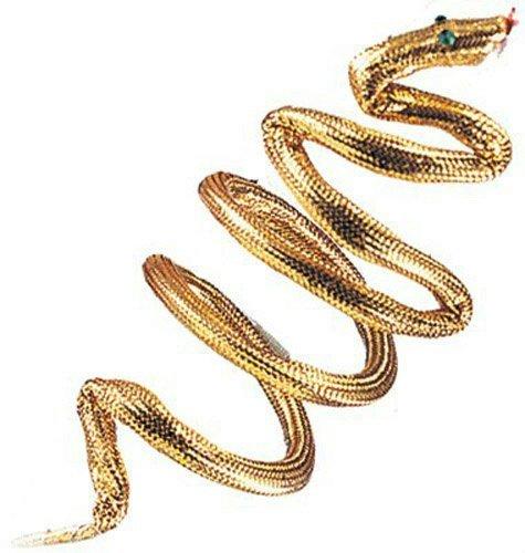 Cleopatra Gold Effect Egyptian Snake Armband (accesorio de disfraz)