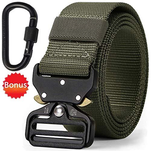 FANSIR Taktische Pflicht Rigger Gürtel, MOLLE militärischen Schnellverschluss Schnalle Taillenband, Nylon Web EDC Waistbelt (Armee Grün)
