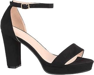 Elara Damen Pumps | Bequeme High Heels | Plateau Wildlederoptik | Chunkyrayan