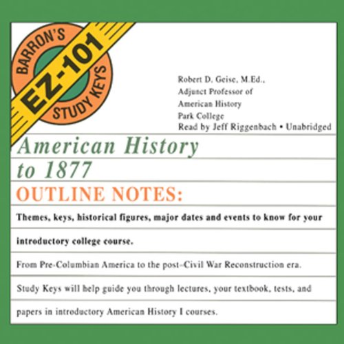 American History to 1877 audiobook cover art