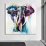 KWzEQ Animal Print Elefante Lienzo Arte de la Pared Carteles e Impresiones decoran la Sala de la Oficina en Lienzo,Pintura sin Marco,60x60cm