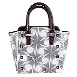 Rivets - Bolsas de piel para mujer, con asa superior, para compras, trabajo, campus y lana, color negro
