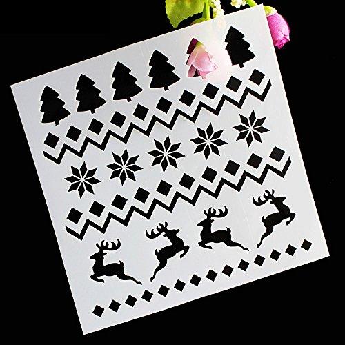 Stencil decorativo mascherina decorazione natalizia natale dolci Cake Design