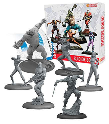 Knight Models Juego de Mesa - Miniaturas Resina DC Comics Superheroe - Batman Game Suicide Squad Box