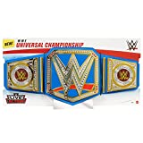 WWE Cinturón Campeonato Universal, disfraz de juguete para niños +6 años Mattel GRT40