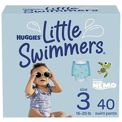 Huggies Little Swimmers Swim Diapers Disposable Swim Pants, Size 3 Small, 40 Ct