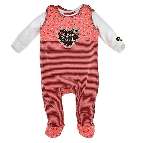 BONDI Strampler Herz, Stripe Melba/Brown 62 Tracht Baby Mdchen Artikel-Nr.86359