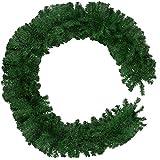 TecTake 900891 Weihnachtsgirlande, für Innen & Außen, Tannengirlande mit viel Volumen, detailliert und naturgetreu, Schlaufe zum Aufhängen, 270 cm - Diverse Farben - (Grün | Nr. 403318)