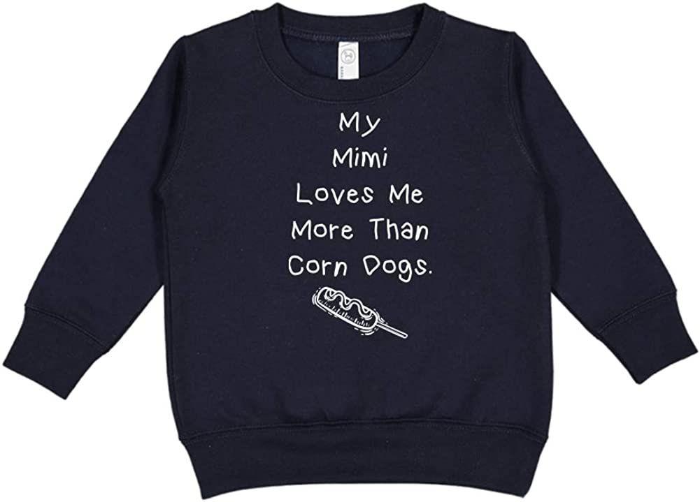 My Mimi Loves Me More Than Corn Dogs Toddler//Kids Sweatshirt