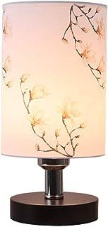 GH-YS Tischlampen Minimalist Fabric Kleine Schreibtischlampe, Massivholz Tischlampe, LED Plug-in Nachtlicht Nachttischlamp...