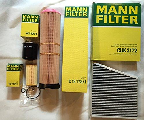 MANN Filter Set ÖLFILTER LUFTFILTER AKTIVKOHLEFILTER KRAFTSTOFFFILTER E-Klasse W211 S211 200 220 270 CDI
