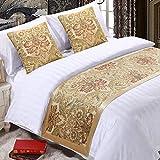 EMME Golden Royal Bed Runner Scarf Bedding...