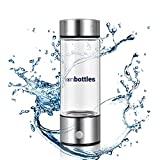 ionBottles - Rechargeable Portable Glass Hydrogen Water Generator Bottle with New PEM and SPE Technology Balanced pH Water Ionizer
