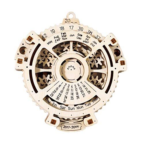 Calendarios 3D Calendario Perpetuo De Madera Puzzle Calendario De Escritorio 2017-2044 Interesante Mini Calendario De Pared Calendario Planificador Ingeniería Juguetes Calendarios 2021 Regalo Mensual
