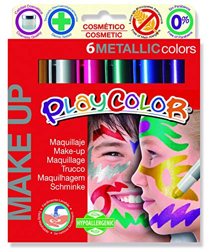 Maquillaje PLAYCOLOR Make UP Metallic Pocket de 5 g Caja de 6 Unidades Surtido