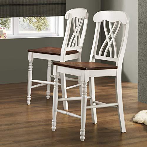 Homelegance Ohana Counter Height Chair in White/Cherry (Set of 2)