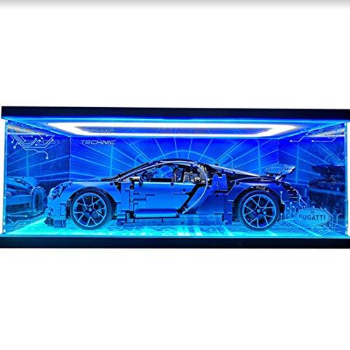 Likecom Vitrina acrílica para Lego Bugatti 42083 (resistente al polvo de perspex), se enciende y se apaga
