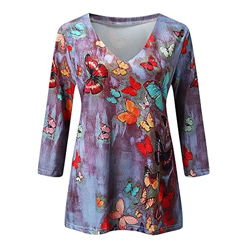YAOBF Biene Maja Langarmshirt Langarmshirt Damen Sweatshirt Langarm Locker Pullover Coole Sweatshirts Herren (Lila 3,XXL)