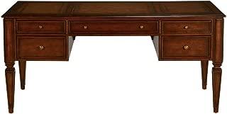Ethan Allen Buckley Leather-Top Desk, Sparrow