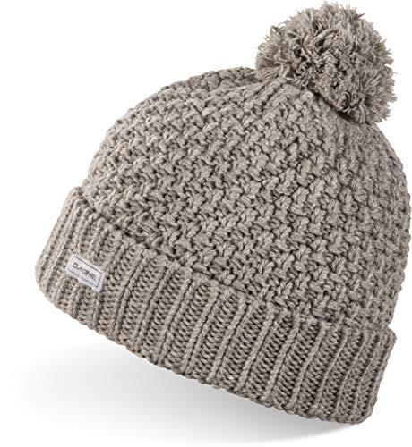 Dakine Womens Tiffany Beanie Winter Hat Grey - Het licht neemt af, de temperatuur daalt, maar je blijft gezellig in deze gebreide beanie